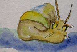 Art: Garden Snail-SOLD by Artist Delilah Smith
