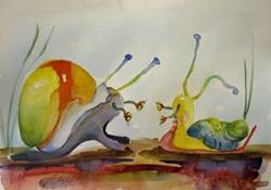 Art: Snail Advice by Artist Delilah Smith