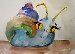 Art: Garden Snail by Artist Delilah Smith