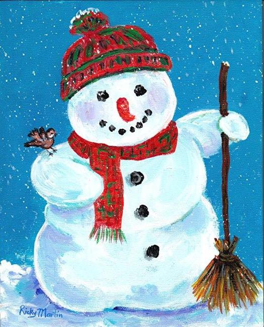 Happy snowman by ulrike 39 ricky 39 martin from snow people for How to paint snowmen