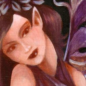 Detail Image for art Violet Fairy ACEO