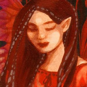 Detail Image for art Pensive Red ACEO