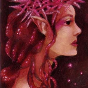 Detail Image for art Star Thistle Queen ACEO