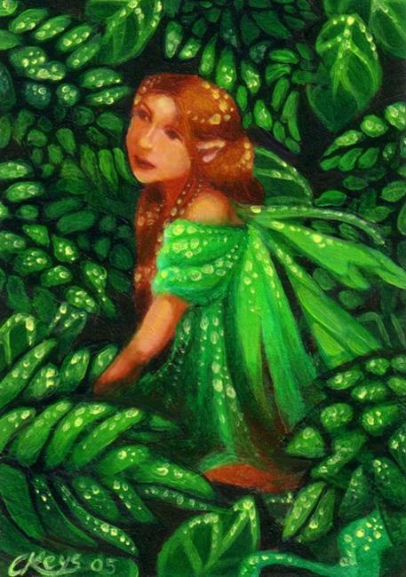 Art: Green Dream ACEO by Artist Carmen Medlin