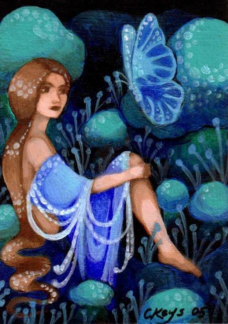 Art: Blue Mood ACEO by Artist Carmen Medlin