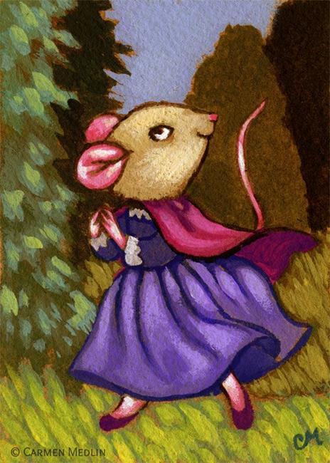 Art: She Went Wandering ACEO by Artist Carmen Medlin