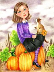 Art: Pumpkin Patch Day by Artist Carmen Medlin