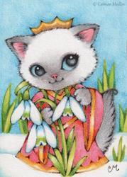 Art: Snowdrop Princess ACEO by Artist Carmen Medlin