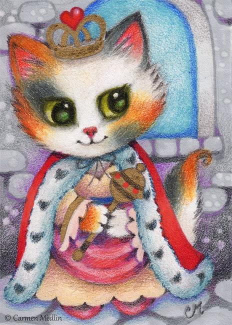 Art: Queen of the Castle II ACEO by Artist Carmen Medlin