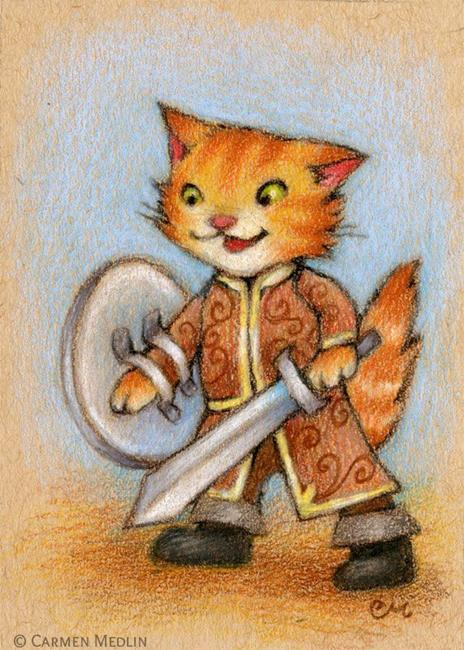Art: Captain of the Guard ACEO - Available by Artist Carmen Medlin