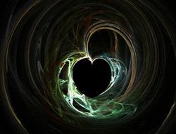 Art: Black Hole Heart (fractal) by Artist Carmen Medlin
