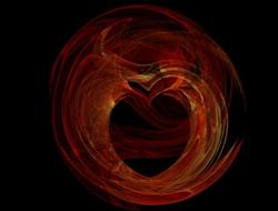 Art: Heart of the Desert (fractal) by Artist Carmen Medlin