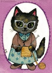 Art: Stitch ACEO by Artist Carmen Medlin