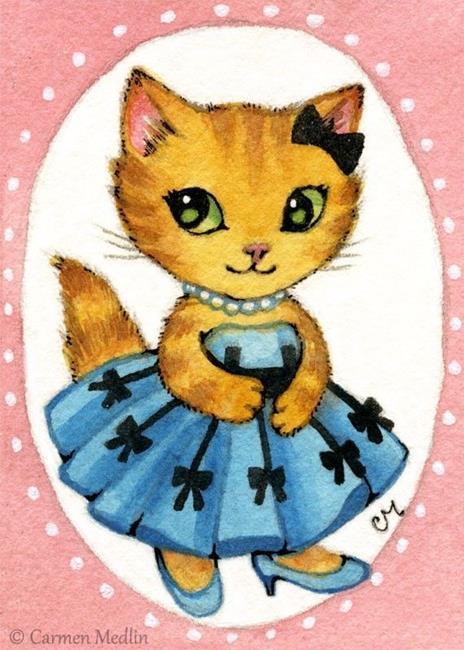 Art: Princess ACEO by Artist Carmen Medlin