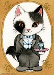 Art: The Butler ACEO by Artist Carmen Medlin