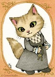 Art: The Housekeeper ACEO by Artist Carmen Medlin