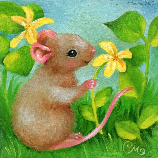 Art: Picking Blossoms by Artist Carmen Medlin