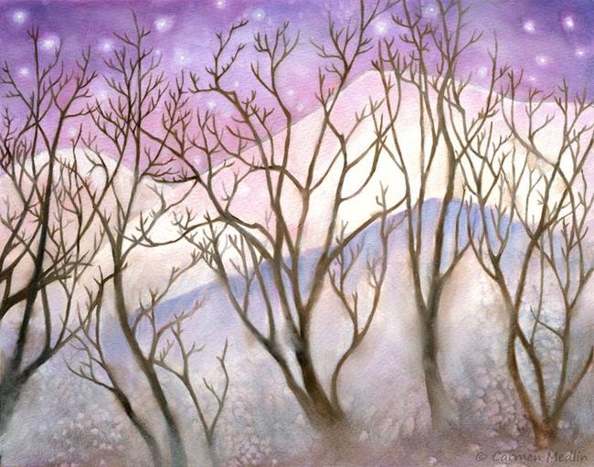 Art: Winter Twilight by Artist Carmen Medlin