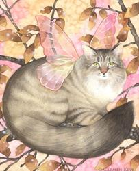 Art: Maine Coon Magic by Artist Carmen Medlin