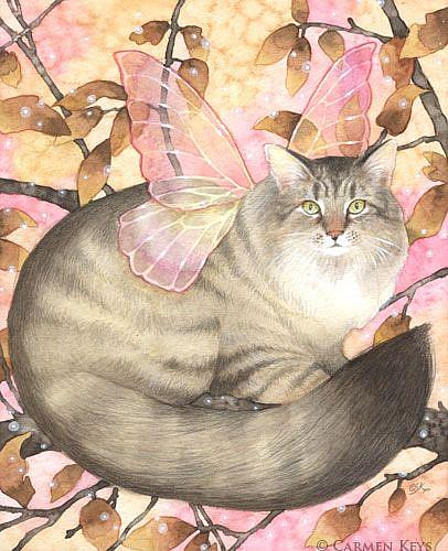 Art: Maine Coon Magic by Artist Carmen Medlin