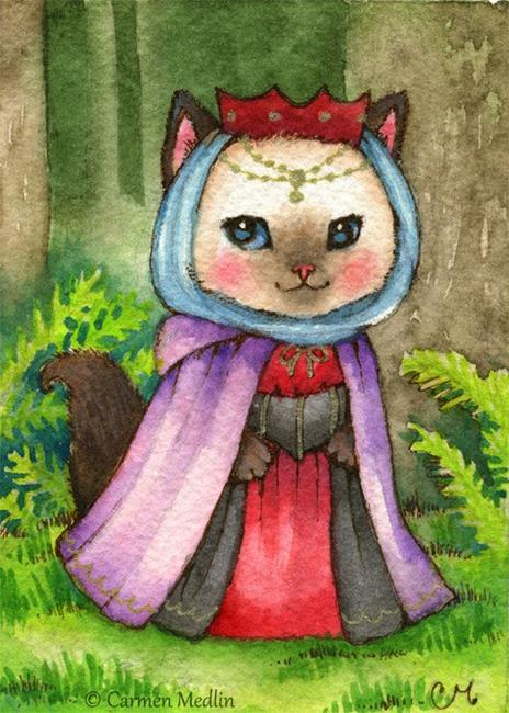 Art: Queen of the Forest ACEO by Artist Carmen Medlin