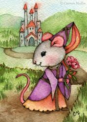 Art: Mouse Princess ACEO by Artist Carmen Medlin
