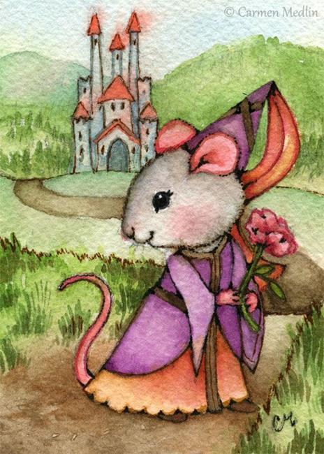 Art: Mouse Princess ACEO by Artist Carmen Medlin