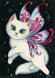 Art: Cosmic Kitten I ACEO by Artist Carmen Medlin