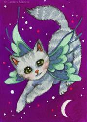 Art: Twilight Flight ACEO by Artist Carmen Medlin
