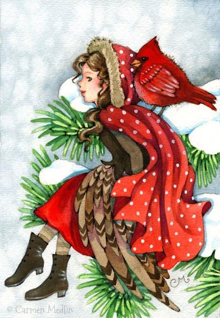 Art: Winter Friends by Artist Carmen Medlin