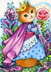 Art: The Wondrous Garden ACEO by Artist Carmen Medlin