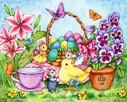 Art: Easter Joy by Artist Carmen Medlin