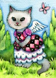 Art: Harlequin Dress ACEO by Artist Carmen Medlin