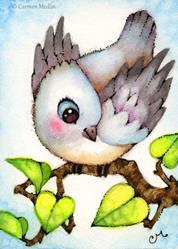 Art: Little Birdie ACEO by Artist Carmen Medlin