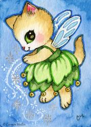 Art: Pixie Dust ACEO by Artist Carmen Medlin