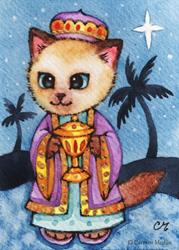 Art: Kitty Magi II ACEO by Artist Carmen Medlin