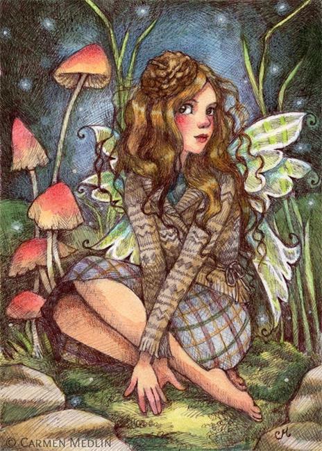 Art: Acorn Beret by Artist Carmen Medlin