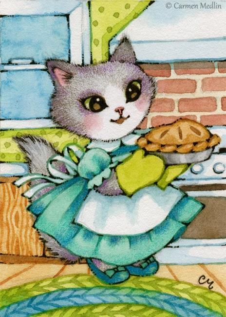 Art: Blackberry Pie ACEO by Artist Carmen Medlin