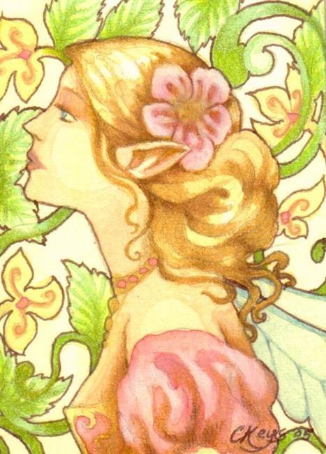 Art: Art Nouveau Fairy ACEO by Artist Carmen Medlin