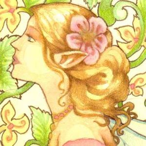 Detail Image for art Art Nouveau Fairy ACEO