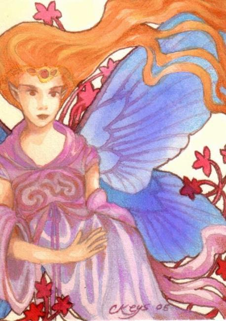 Art: Flame Goddess ACEO by Artist Carmen Medlin