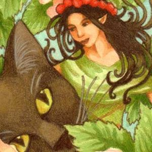 Detail Image for art Obsidian's Faerie Friend ACEO