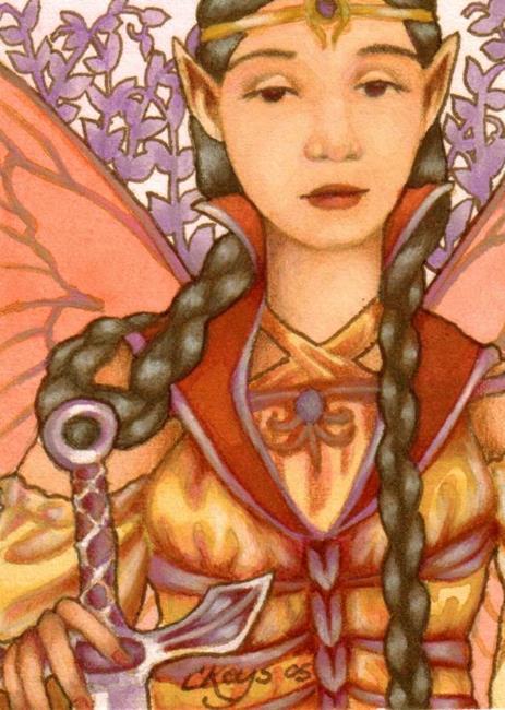 Art: Faery Swordswoman ACEO by Artist Carmen Medlin