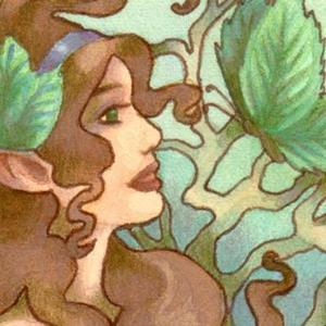 Detail Image for art Butterfly Leaves ACEO