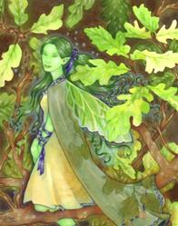 Art: Green Girl (Ripped 06) by Artist Carmen Medlin