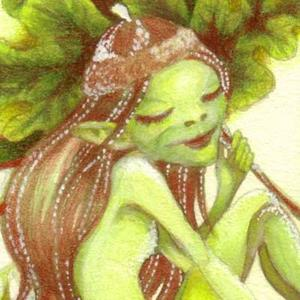 Detail Image for art Acorn Pixie ACEO