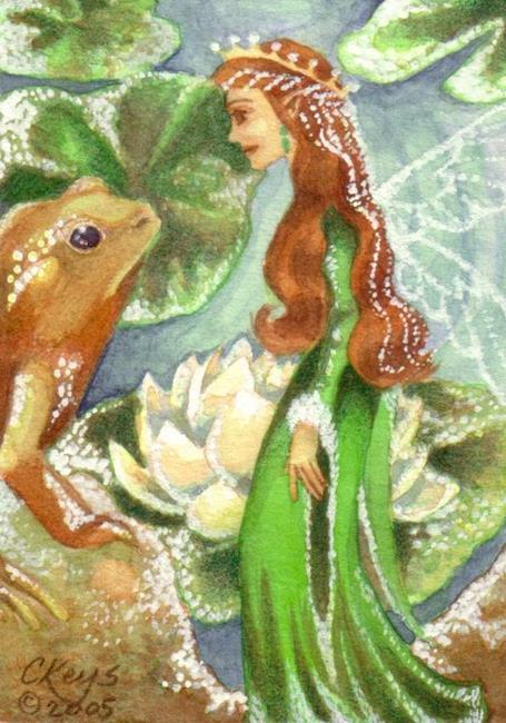 Art: Emerald's One True Love ACEO by Artist Carmen Medlin