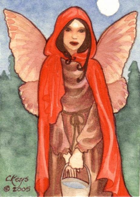 Art: Little Red ACEO by Artist Carmen Medlin