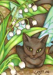 Art: Garden Intruder ACEO by Artist Carmen Medlin