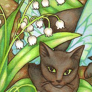 Detail Image for art Garden Intruder ACEO